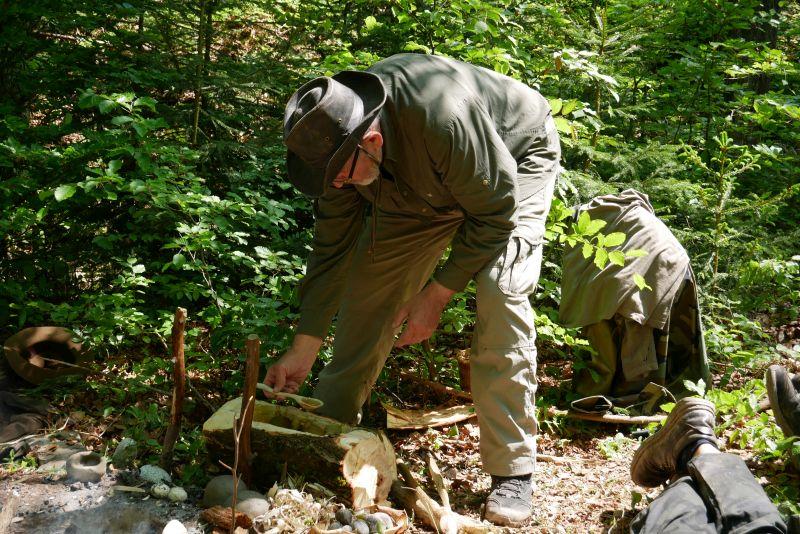 Herba uvařená pomocí varných kamenů
